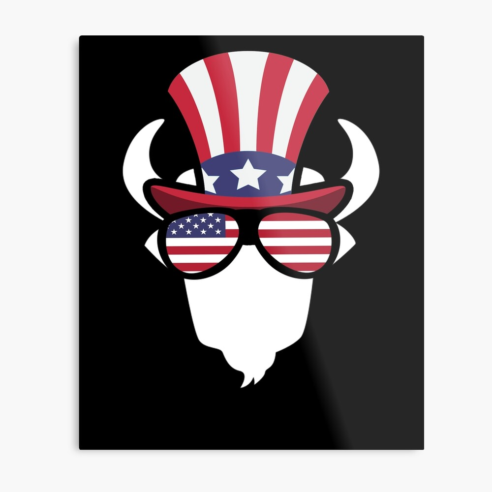 Buffalo Happy 4th Of July Lámina metálica