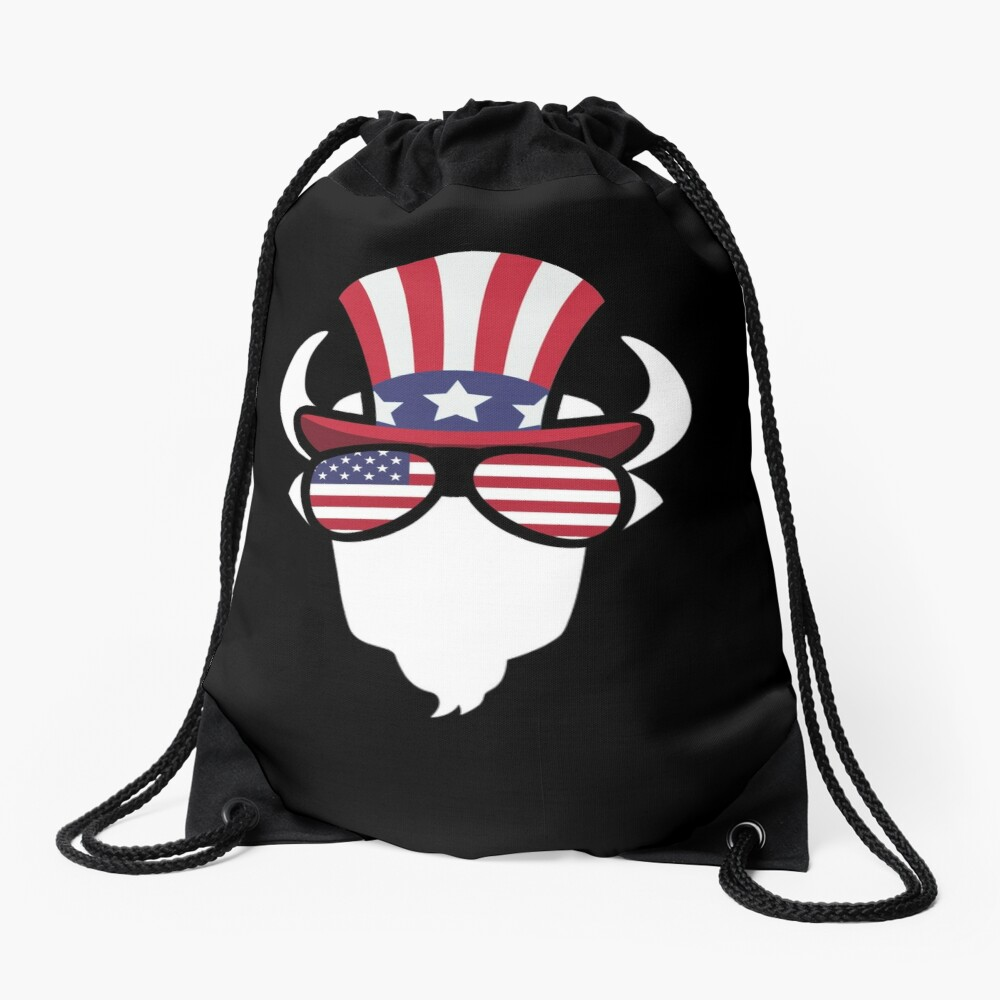Buffalo Happy 4th Of July Mochila saco