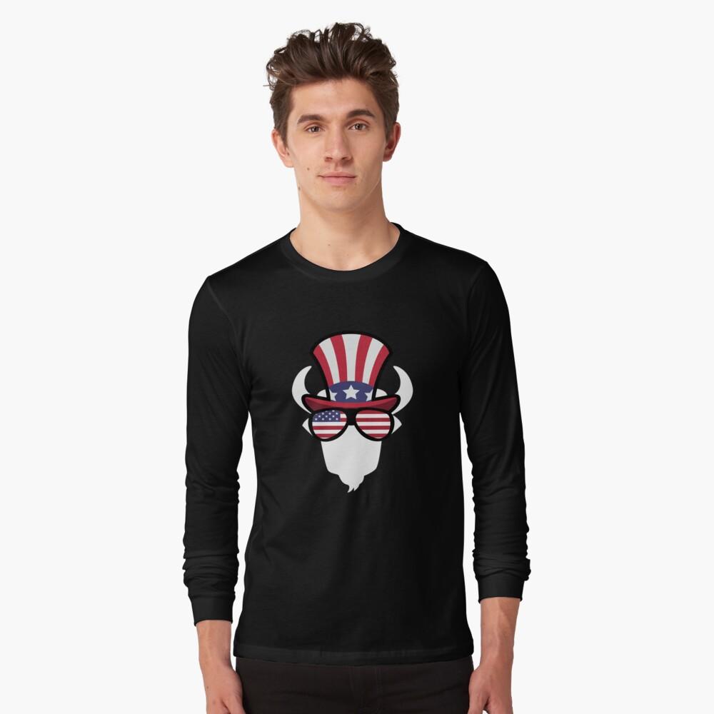 Buffalo Happy 4th Of July Camiseta de manga larga