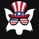 «Fox Happy 4th Of July» de GoOsiris