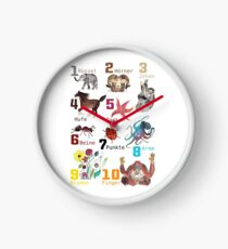Animal Number Poster Clock