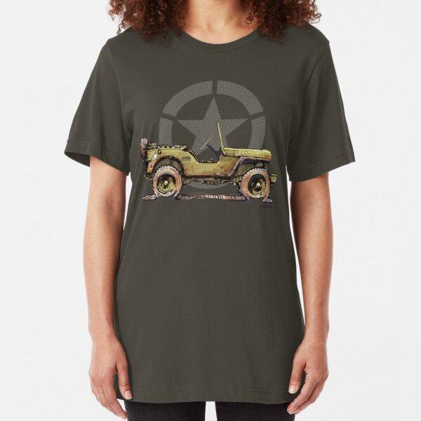 Dirt Star Willys - WW2 Slim Fit T-Shirt