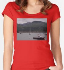 barmouth harbour Women's Fitted Scoop T-Shirt