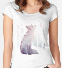 Fox in the Snow Women's Fitted Scoop T-Shirt