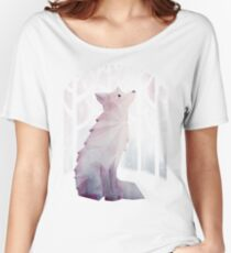 Fox in the Snow Women's Relaxed Fit T-Shirt