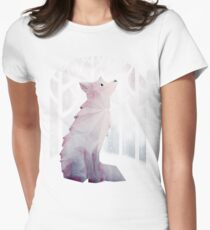 Fox in the Snow Women's Fitted T-Shirt