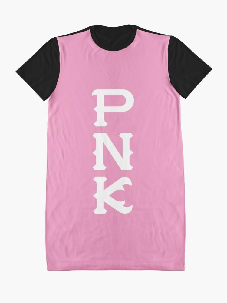 Alternate view of Python Nu Kappa (Monsters U) Graphic T-Shirt Dress