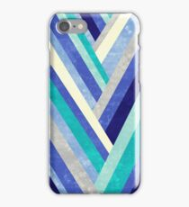 Palisade 2 - Blue Chevron Geometric Abstract iPhone Case/Skin