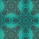 Turquoise Tile Pattern by Starsania