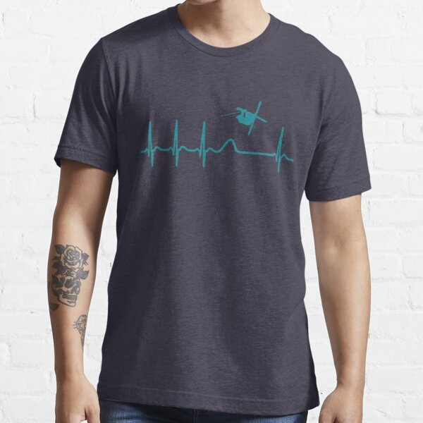 Heartbeat Freestyle Skiing T-Shirt - Cool Funny Nerdy Comic Graphic Skier Skiing Winter Sports Humor Quote Sayings Shirt Gift Gift Idea Essential T-Shirt