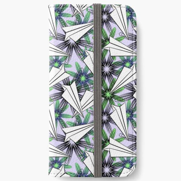 PAPER PLANES (light blue) iPhone Wallet