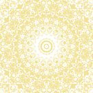 White Lace Mandala on Sunshine Yellow Background by Kelly Dietrich