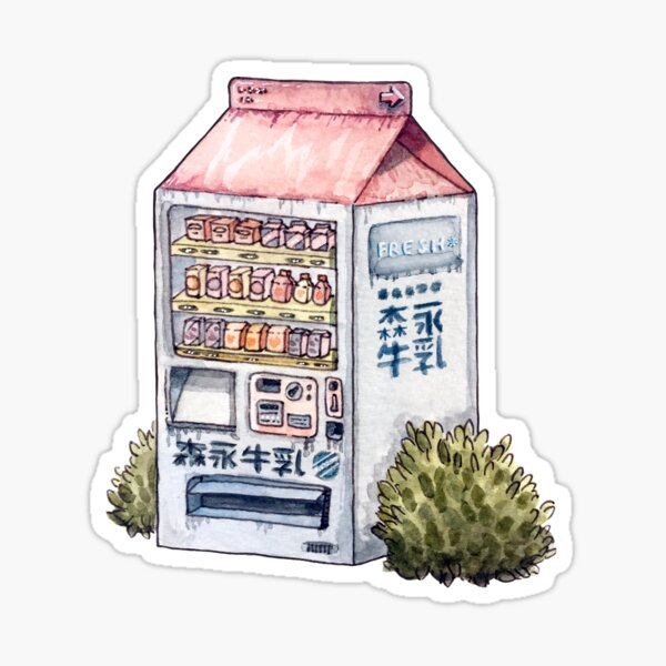 Sunset Snack Sticker