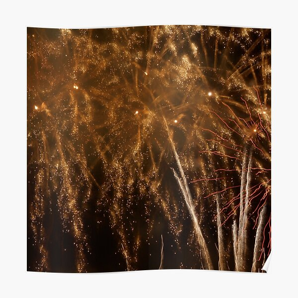 Fireworks Abstract 18 Poster