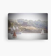 Yachts Passing St Mawes Castle Cornwall Canvas Print