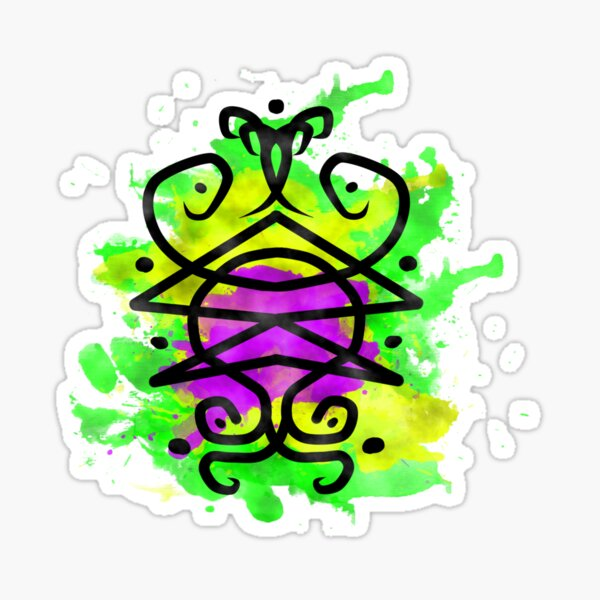 Sigil for luck Sticker