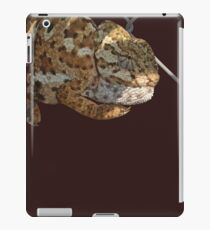 Chameleon Hanging On A Wire Fence Vector iPad Case/Skin
