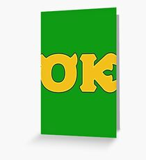 Oozma Kappa (Monsters U) Greeting Card