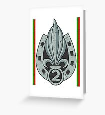 2nd Foreign Infantry Regiment - Grunge Style  Greeting Card