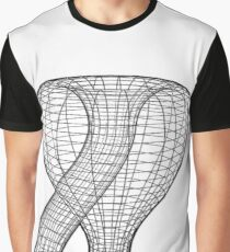 A two-dimensional representation of the Klein bottle immersed in three-dimensional space, #TwoDimensional, #representation, #KleinBottle, #immersed, #ThreeDimensional, #space Graphic T-Shirt