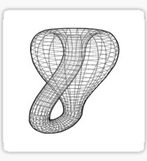 A two-dimensional representation of the Klein bottle immersed in three-dimensional space, #TwoDimensional, #representation, #KleinBottle, #immersed, #ThreeDimensional, #space Sticker