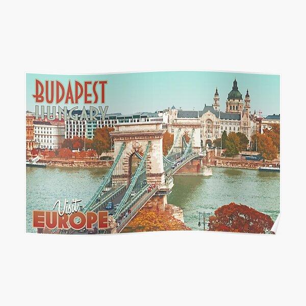 Visit Budapest - Travel Poster Poster