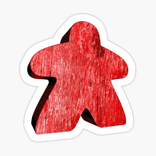 Giant Red Meeple Sticker