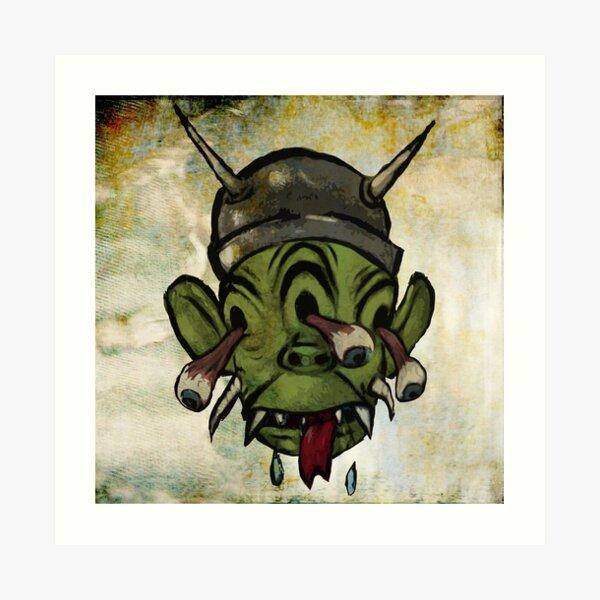 Three Eyed Martian Art Print