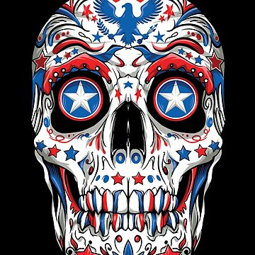 Sugar Skull 4th of July T shirt Women Men Boys Fourth USA by LiqueGifts