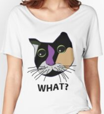 WHAT? Sola the Calico Cat Women's Relaxed Fit T-Shirt