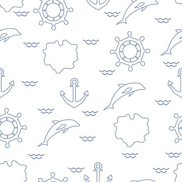 Seamless marine pattern. by aquamarine-p