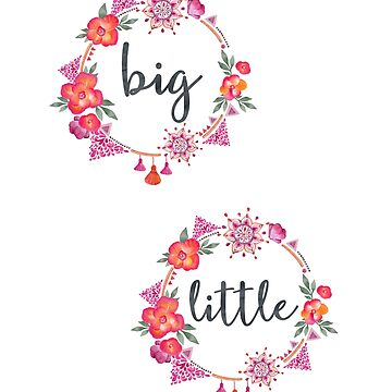 Sorority Big Little Bohemian by whimseydesigns