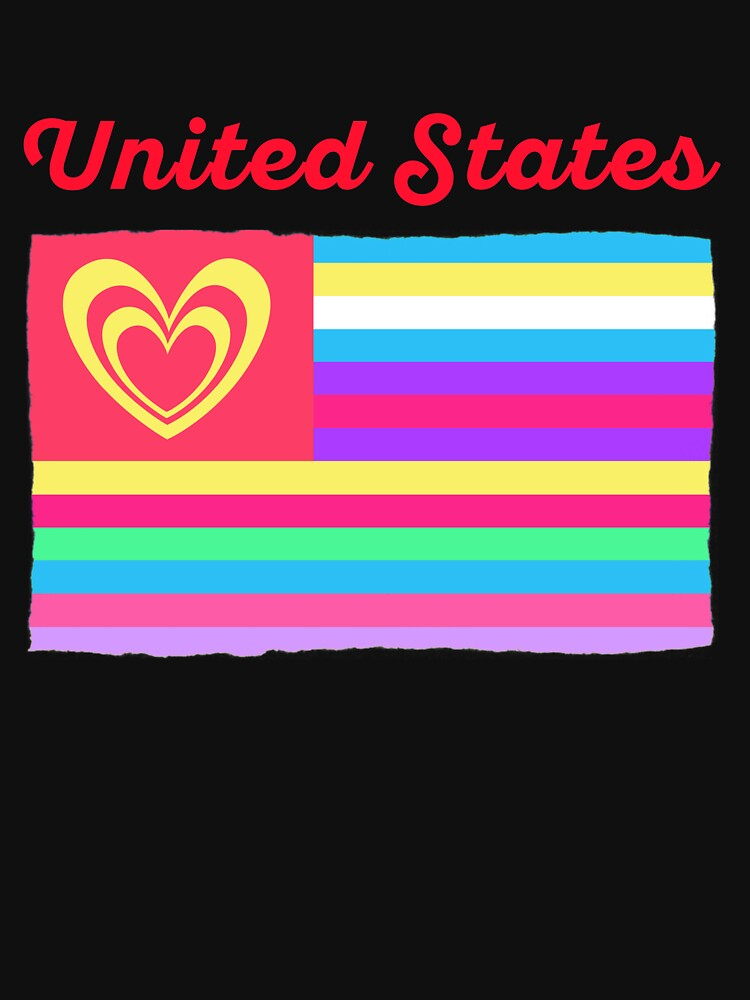 United States Flag Heart Valentine's Day by TheLariat