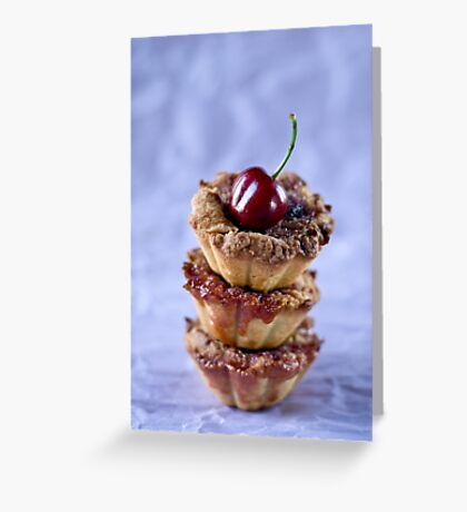 Cherry tarts Greeting Card