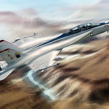 U.S. Navy F18 Hornet. by bmphoto