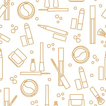 Seamless pattern of decorative cosmetics. by aquamarine-p