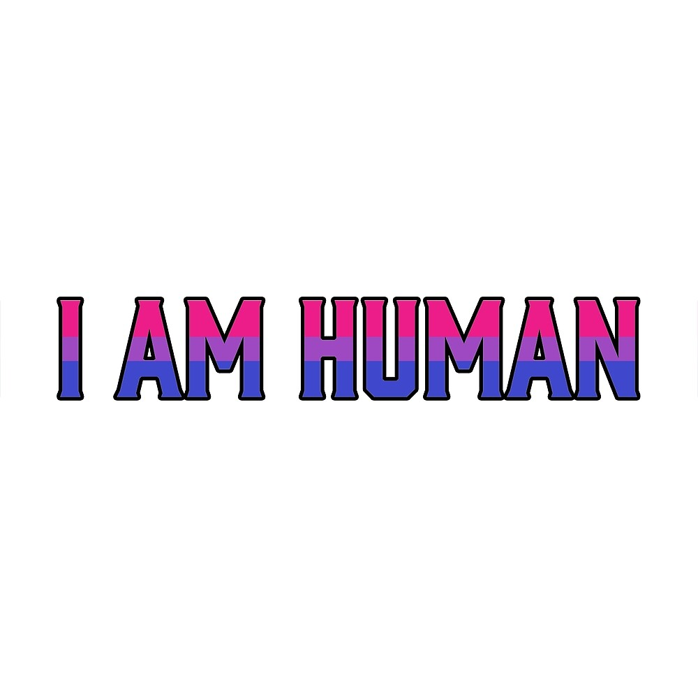 """Bisexual Flag in """"I am Human"""" by Ashlily"""
