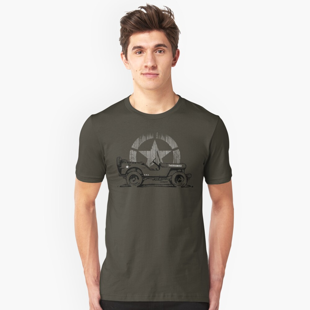 G.I Hero Willys - WW2 Camiseta ajustada