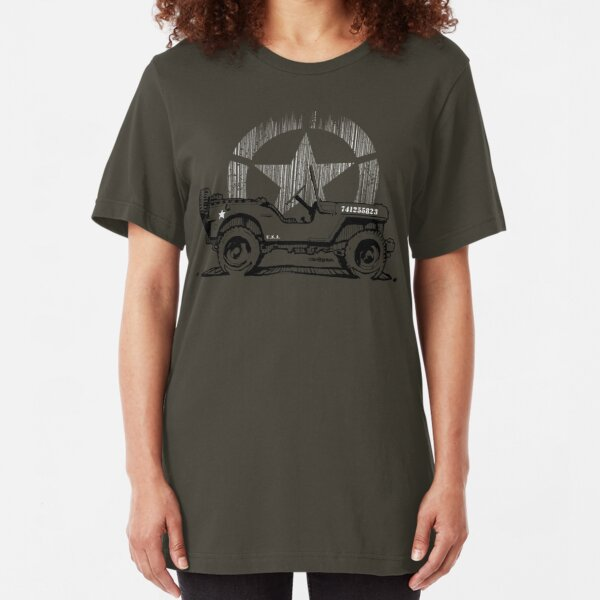 G.I Hero Willys - WW2  Slim Fit T-Shirt