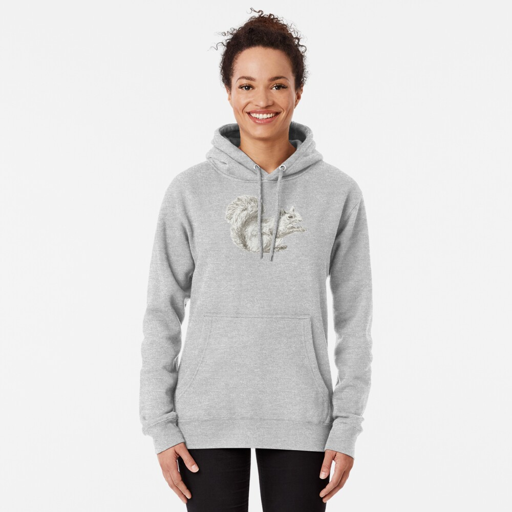 Resting Squirrel Pullover Hoodie