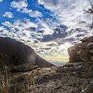 rocks and sky by Deana Greenfield