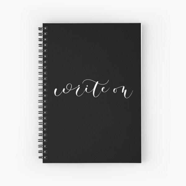 Write on  Spiral Notebook