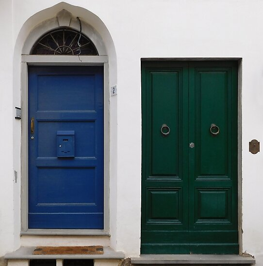 Blue & Green Doors by sarahclarch