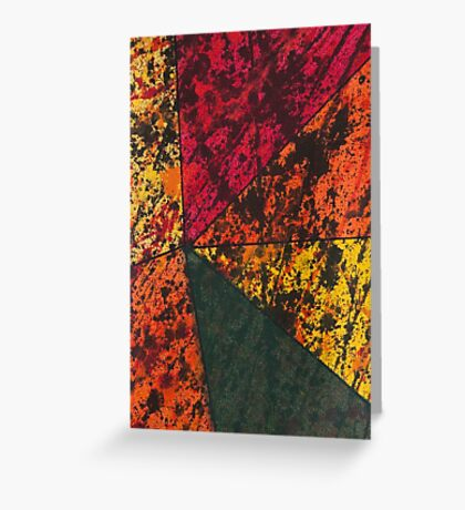 Corner Splatter # 11 Greeting Card
