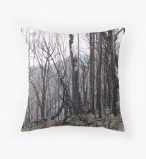 Bushfire aftermath Throw Pillow