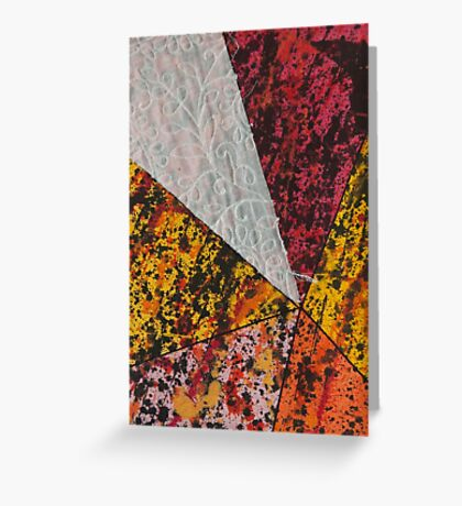 Corner Splatter # 13 Greeting Card