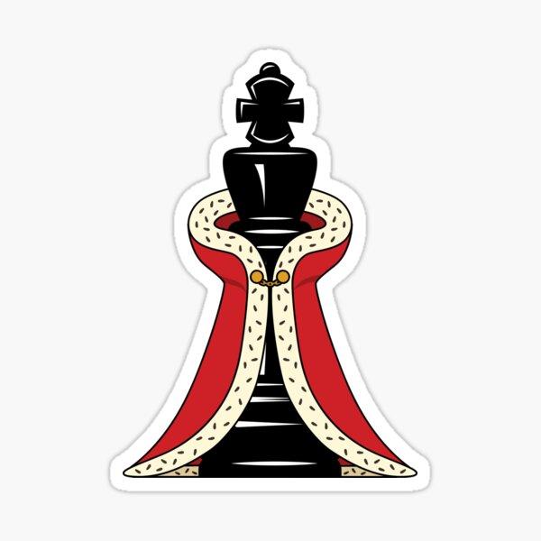 Chess Piece King Sticker