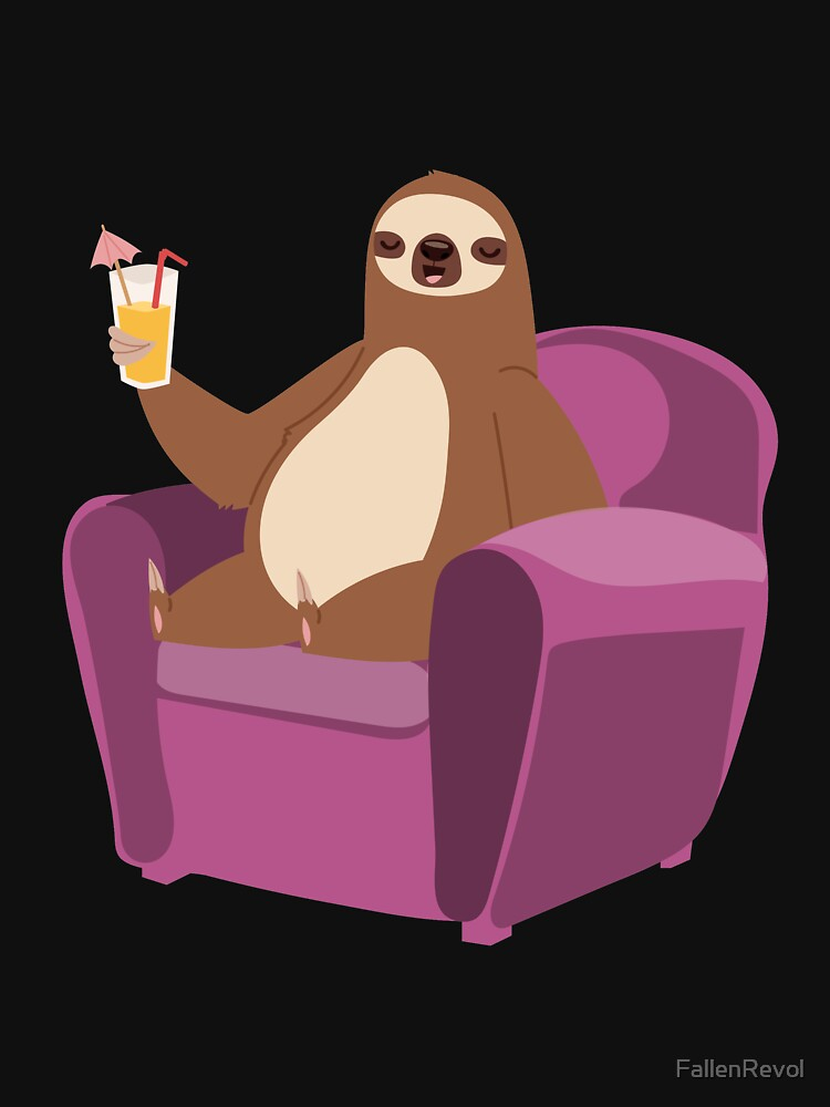 Sloth In Vacation And Relaxing by FallenRevol