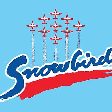 Snowbirds Wordmark by Hollow-Horse