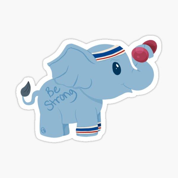 Positivity Elephant - Strong Sticker